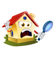 house is looking trought magnifying glass on vector image