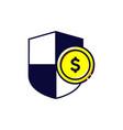 icon safe money coin dollar shield logo vector image vector image