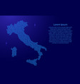 italy map abstract schematic from blue ones and vector image
