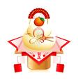 kagami mochi decoration vector image vector image