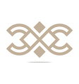 Logo Abstract Icon Circle Square Design vector image vector image