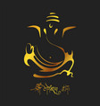 lord ganpati background for ganesh chaturthi with vector image vector image