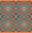 mandala doodle drawing colorful floral seamless vector image vector image