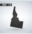 map idaho isolated black on white background eps vector image vector image