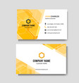 modern abstract yellow business card vector image vector image