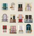 modern classic vintage balcony elements collection vector image vector image