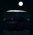 night landscape with mountain and cloud and moon vector image vector image