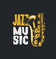 poster jazz music with saxophone vector image vector image
