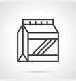 protein powder pack simple line icon vector image