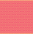 red geometric seamless pattern vector image