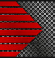 red metal texture with perforation vector image vector image