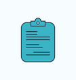 report medical paper checklist document flat icon vector image