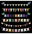 Retro bunting and garland set Template for design vector image vector image