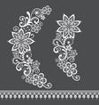 retro lace half wreath single pattern vector image vector image