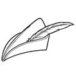 robin hood hat vector image vector image
