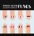 set of various flag vector image vector image