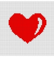 Sign pixel heart in grid 706