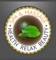 SPA theme with leaves and drop vector image