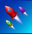 space color rockets launch creative idea vector image vector image