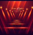 spot lights stage enterance background vector image vector image