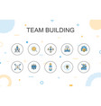 team building trendy infographic template thin vector image vector image