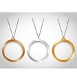 three minimal necklaces icon image vector image