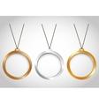three minimal necklaces icon image vector image