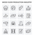 wood production icon vector image vector image