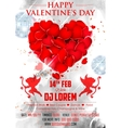 Valentine Day Background for party banner vector image