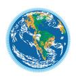 americas earth doodle vector image