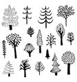 ink trees vector image