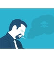 Smoking is poison vector image