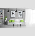 apartment living room realistic interior vector image vector image