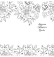 Background with bouquet of flowers-03 vector image vector image