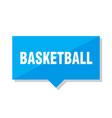 basketball price tag vector image vector image