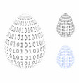 binary digital abstract egg composition icon of vector image vector image
