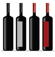 bottle of wine color vector image vector image
