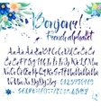 Calligraphic french alphabet with decorations vector image vector image