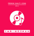 cd dvd with music symbol graphic elements for vector image