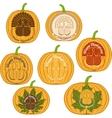 Color celebratory logo turkey bird vector image vector image