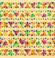 color triangles pattern vector image vector image