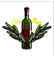Color vintage wine shop emblem vector image vector image