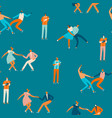 dancing couples people seamless pattern in vector image vector image
