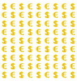 dollar and euro monetary signs seamless pattern vector image vector image