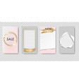 editable stories template isolated transparent vector image