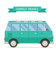 Family Travel Bus in Flat Design vector image vector image