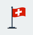 flag of switzerlandflag stand vector image vector image