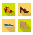 footwear and woman symbol vector image