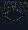 frame on a dark background with gold polka dots vector image vector image