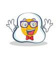 geek fried egg character cartoon vector image vector image